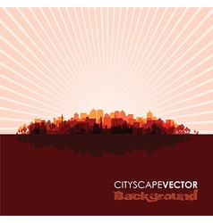 Red cityscape vector