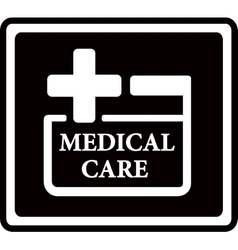 Black medical care icon vector