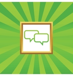 Chat picture icon vector