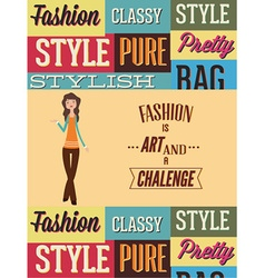With fashion elements vector