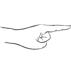 Hand with forefinger vector