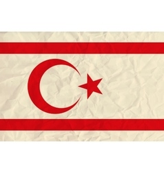 Northern cyprus paper flag vector