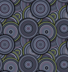 Abstract geometric circles seamless pattern vector