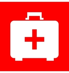 Medical first aid box sign vector