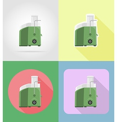household appliances for kitchen 06 vector image