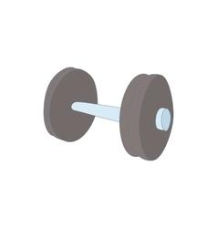 Dumbbell icon cartoon style vector