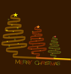 abstract merry christmas tree vector image