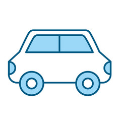 blue car cartoon vector image