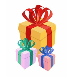 bunch gifts vector image vector image