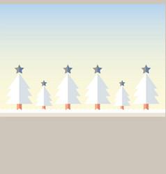 Christmas tree snow vector