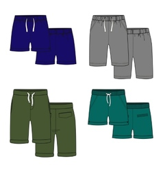 Color shorts vector image vector image