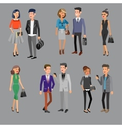 detailed characters people business vector image vector image