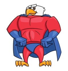 Eagle superhero posing 2 vector