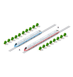 Fast modern high speed train vector