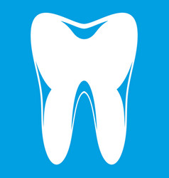 human tooth icon white vector image
