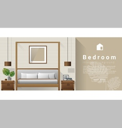 Interior design modern bedroom background 7 vector