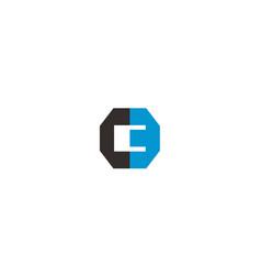 letter c and e monogram logo design vector image