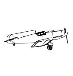 Messerschmitt BF109 trop figter vector image