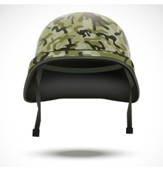 Military helmet with camo pattern vector image