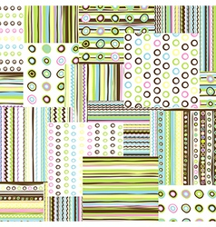 Patchwork fabric background vector image