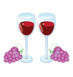 red wine glass vector image vector image