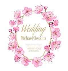 Sakura invitation vector image