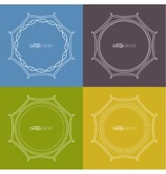 Set framework for multi colored backgrounds vector