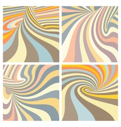 Set of colorful striped projection on torus vector