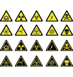 set of warning signs vector image vector image