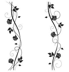 Simple floral background in black and white vector