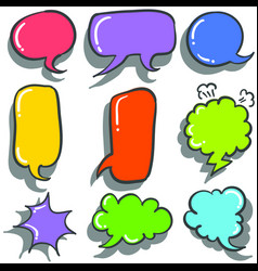 Text balloon colorful hand draw vector