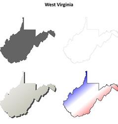 West virginia outline map set vector