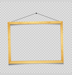 wooden rectangular frame transparent vector image vector image