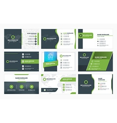 Set of modern business card print templates vector