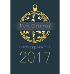 Christmas and new year 2017 background vector