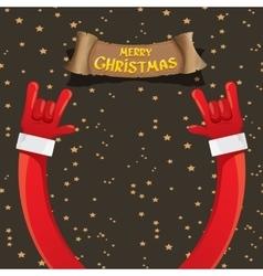Christmas rock n roll greeting card vector