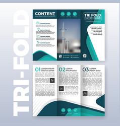 Business tri-fold brochure template design vector