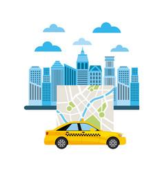 taxi service public transport vector image