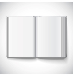 Blank open book of a gradient mesh used EPS10 vector image