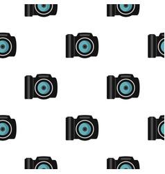 Photocamera pattern flat vector