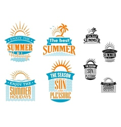 Summer vacation and travel designs vector