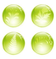 floral balls vector image
