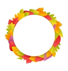 Colorful autumn wreath with copy space vector