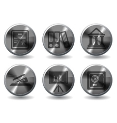 Finance icons set vector