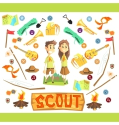 Children scouts vector