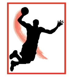 Dunk basketball vector
