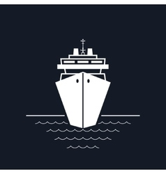 Cruise ship isolated on black vector