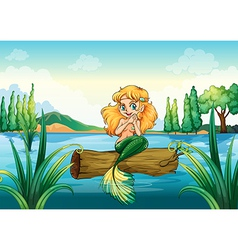 A mermaid above the log vector