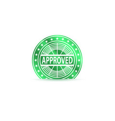 approved chip success concept vector image vector image