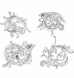 baroque calligraphy vector image vector image